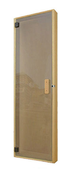 "Superior Saunas: Sauna Door - All Glass Panel Door Bronze Glass 20"" x 65"""