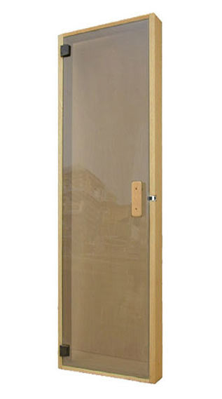 "Superior Saunas: Sauna Door - All Glass Panel Door Bronze Glass 24"" x 80"""