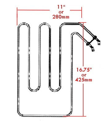 Superior Saunas: Heater Element - Sauna Heater Elements for Saunatec 6kw SO / SC / BE, SEPC-94