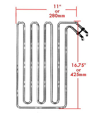 Superior Saunas: Heater Element - Sauna Heater Elements for Saunatec 8kw SO / SC / BE, SEPC-95