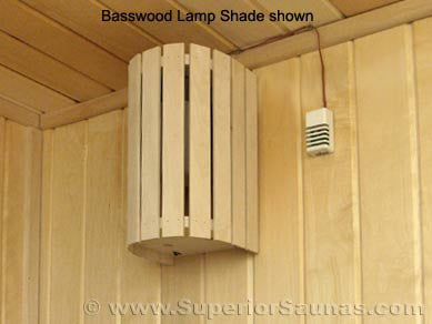 Superior Saunas: Sauna Lighting - Aspen Compact 180 Light and Shade Combo