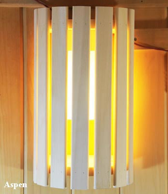Superior Saunas: Sauna Lighting - Aspen Compact 180 Light Shade