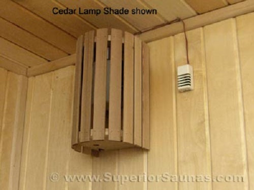 Superior Saunas: Sauna Lighting - Cedar Compact 180 Light Shade
