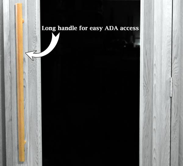 "Superior Saunas: Sauna Door - Cedar Full Clear Glass ADA Door 36"" x 80"""