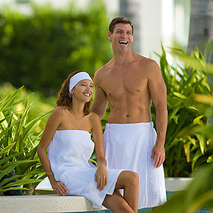 Superior Saunas: Sauna Towel - Men's Velour Towel Wrap