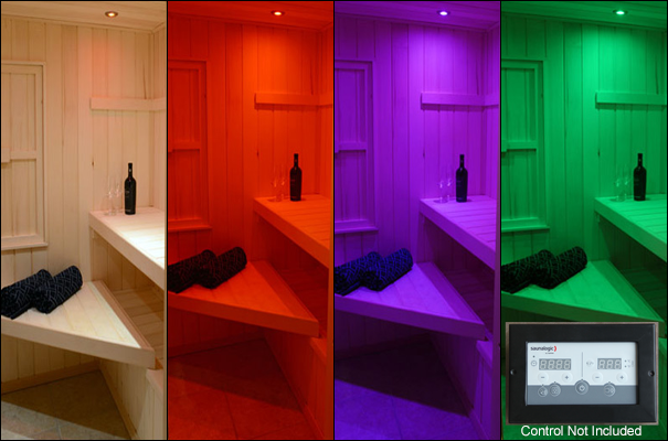 Superior Saunas: Sauna Lighting - Recessed Sauna Lighting Kit for SaunaLogic Control with Options