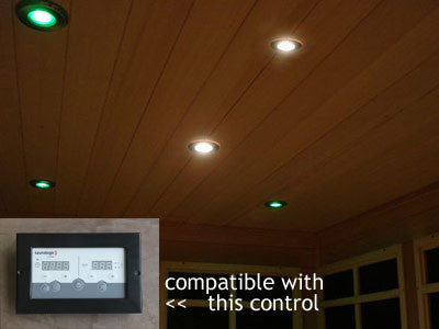 Superior Saunas: Sauna Lighting - Spectra Recessed Sauna Lighting Kit for SaunaLogic Control with Options
