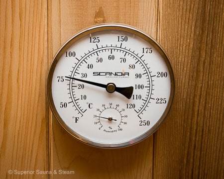 Superior Saunas: Thermometer - Steam Room Thermometer and Hygrometer