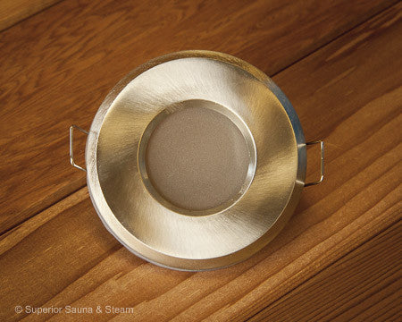 Superior Saunas: Sauna Lighting - Spectra Recessed Sauna Light Kit Replacement Vapor Proof Fixture