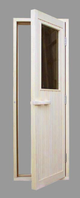 Aspen Half Glass Door 24\  x 77\  & Sauna Doors \u2013 Superior Saunas