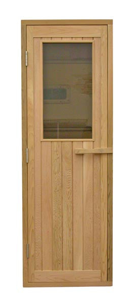 "Superior Saunas: Sauna Door - Red Cedar Half Glass Door 24"" x 77"""