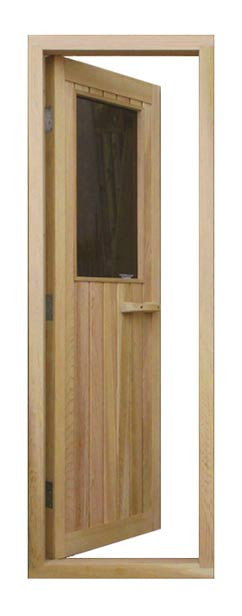"Superior Saunas: Sauna Door - Cedar Half Glass Door 24"" x 77"""