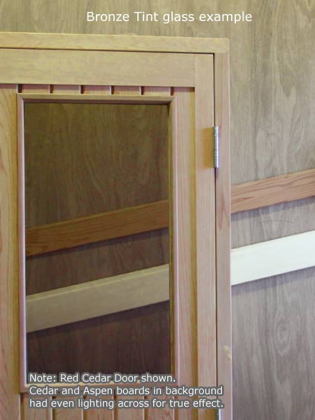 ... Superior Saunas Sauna Door - Red Cedar Half Glass Door 24\  x 77\  ... & Red Cedar Half Glass Door 24\