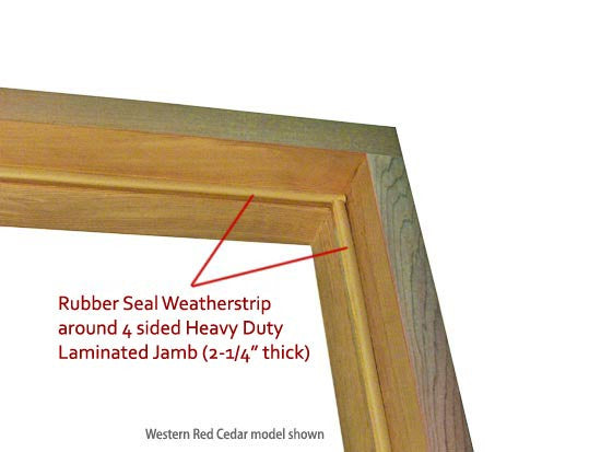 "Superior Saunas: Sauna Door - Red Cedar Half Glass ADA Door 36"" x 80"""