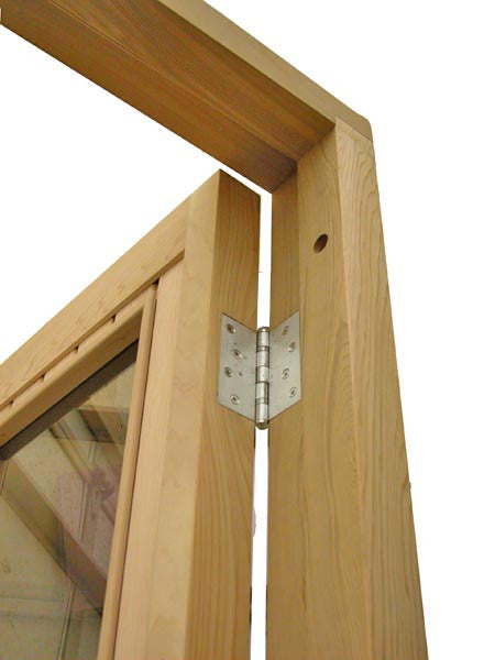 "Superior Saunas: Sauna Door - Cedar Half Glass ADA Door 36"" x 80"""