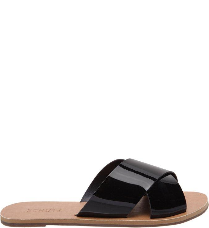 Flat Slide Cross Verniz Black