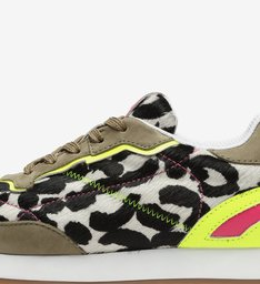 TÊNIS NINETY NEW RETRO ANIMAL PRINT P&B NEON