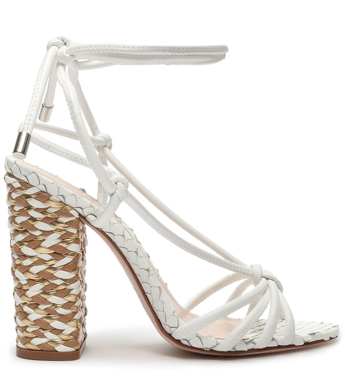 SANDÁLIA TRAMA LACE-UP WHITE