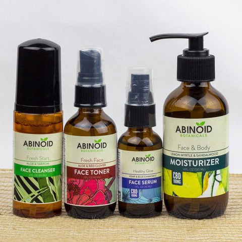 Buy Abinoid Botanicals CBD Face Care Kit (250mg CBD) | Same Day Shipping
