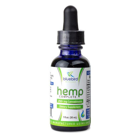 Buy Bluebird Botanicals 'Hemp Complete' Hemp Oil (250mg CBD) | Same Day Shipping