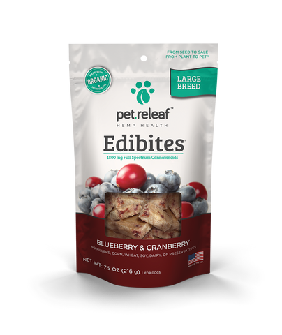 Elixinol Edibites CBD Dog Treats - Large Bread (90mg CBD)
