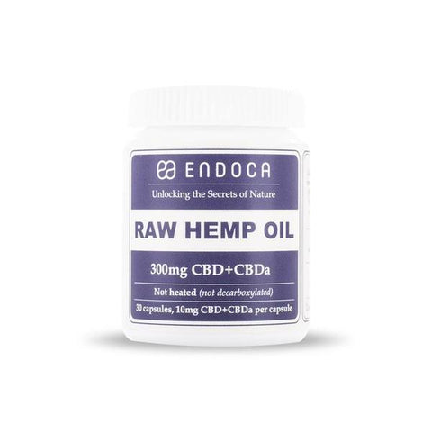 Buy Endoca Raw CBD Hemp Oil Capsules (30 CBD Capsules/300mg CBD) | Same Day Shipping