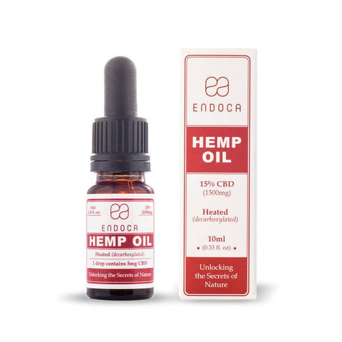 Buy Endoca CBD Hemp Oil Drops 15% CBD (1500mg CBD/10ml) | Same Day Shipping