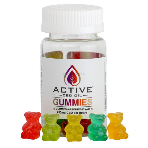 Active CBD Gummy Bears (250mg CBD)