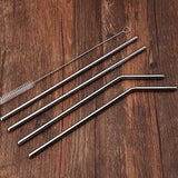 🌍4 PCS Reusable Stainless Steel Metal Straws 🌍