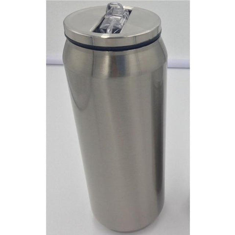 Silver / 480 ml Thermo Coffee Cup, Stainless Steel Mug