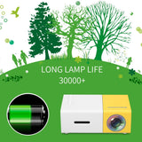 Mini Portable LCD Projector Beamer 1080 P 30,000+ Hours