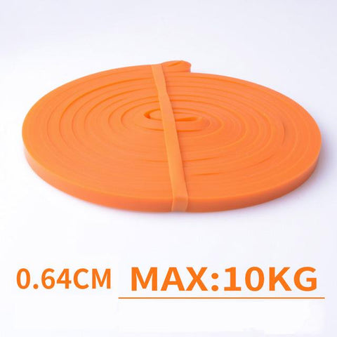 Orange Elastic Exercise Resistance Bands