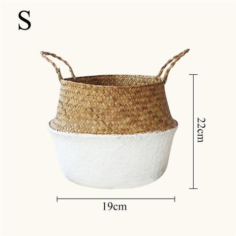 S Decorative Straw Flower Holder