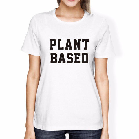 White / L Cute Women's Plant Based T-Shirt 🌱🌿
