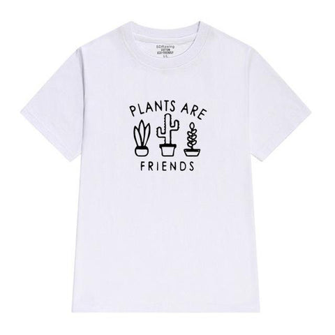 white / XXS Plants are Friends Shirt