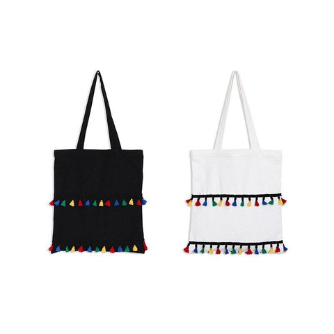Eco Cotton Tassel Tote Bag