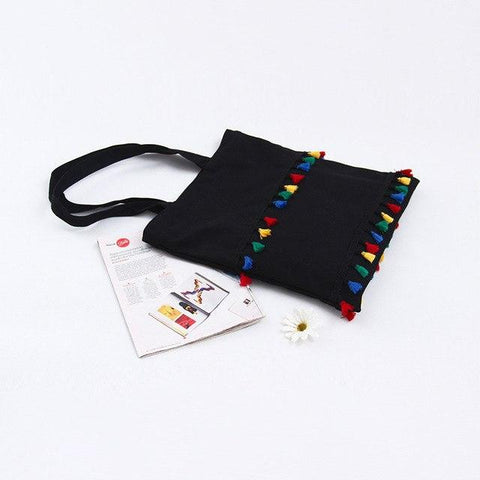 Eco Cotton Tassel Tote Bag - gohuh