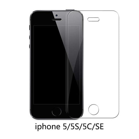 iPhone 5 5S 5SE / 9H tempered glass Protective Tempered Glass Compatible with the 11 Newest iPhone Sizes