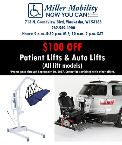 Patient Lift & Auto Lift Coupon, Milwaukee, WI
