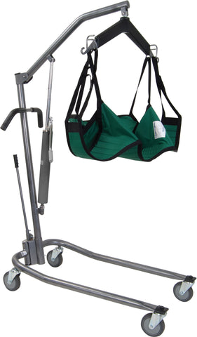 Hydraulic, Deluxe Silver Vein Patient Lift with 6-Point Cradle
