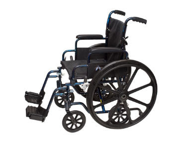 "ProBasics Transformer K0004 Wheelchair, 18"" x 16"" Seat with Footrests"