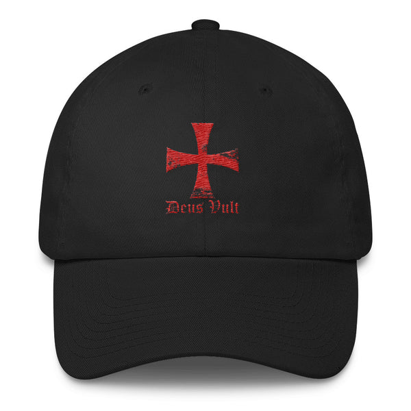Templar Cross Deus Vult Cotton Cap