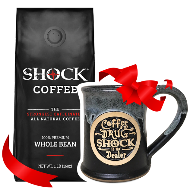 Cup of Joe Gift Bundle: 1LB Whole Bean & 14OZ Mug