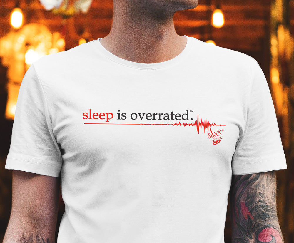 Vintage Sleep is Overrated T-Shirt White