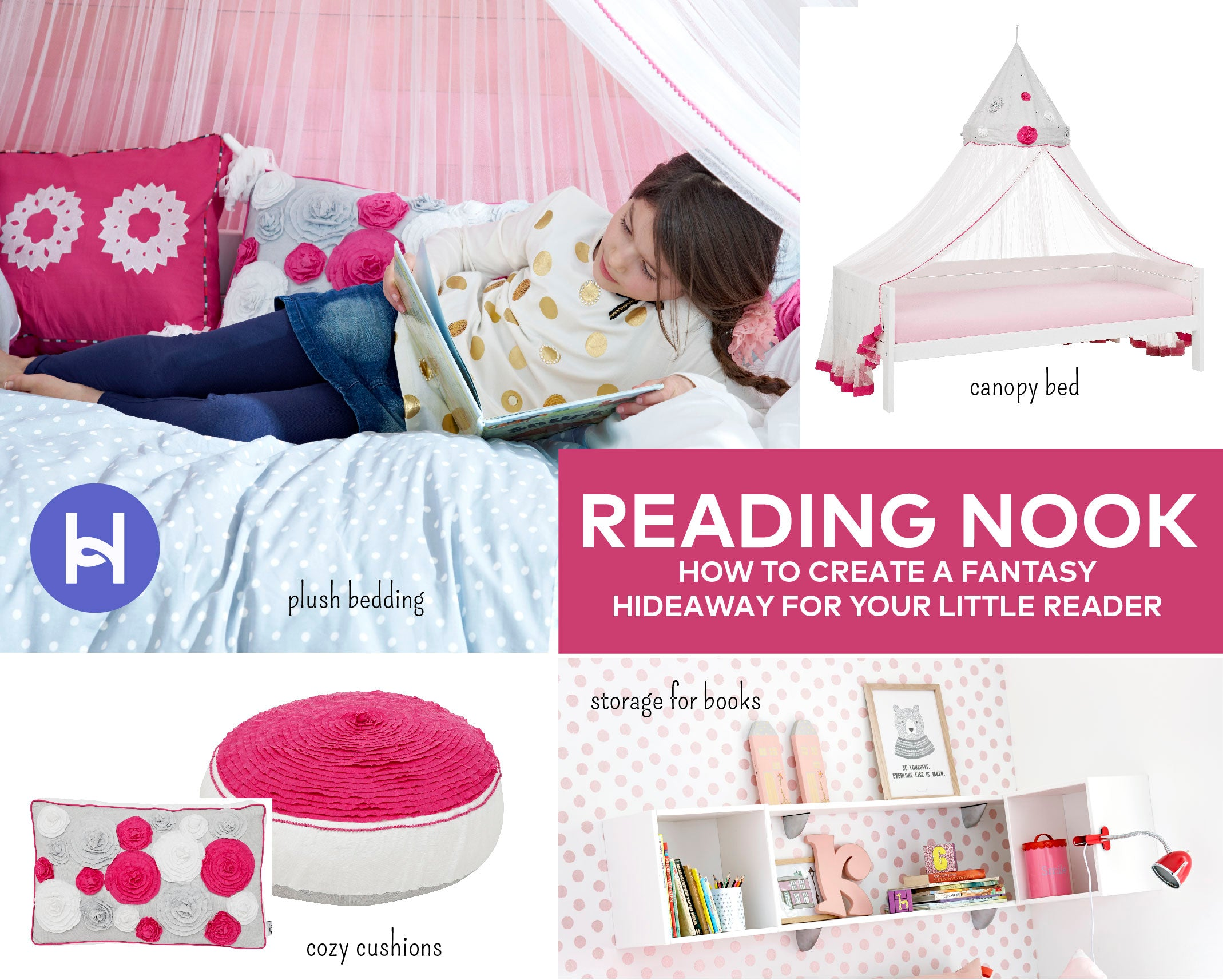 Huckleberry Kids Rooms - Cozy Reading Nook