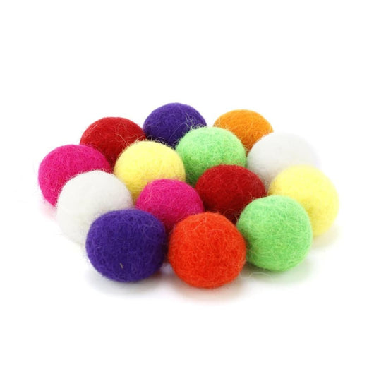 Slingshot ammo multi-colored felt balls  - Huckleberry Kids Rooms
