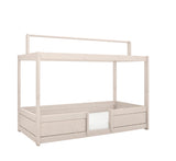 4-IN-1 Tent Bed for Kids in Whitewash, made of solid wood by Lifetime Kidsrooms - Huckleberry Kids Rooms