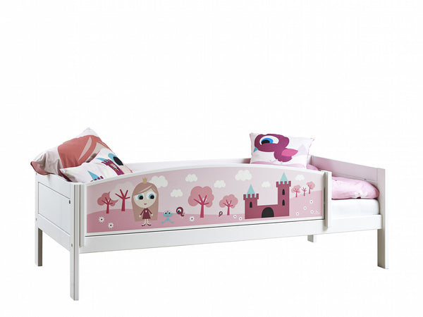 Lifetime_Kidsrooms_Base_Bed_in_White_with_Little_Princess_themed_front_Huckleberry_Kids_Rooms