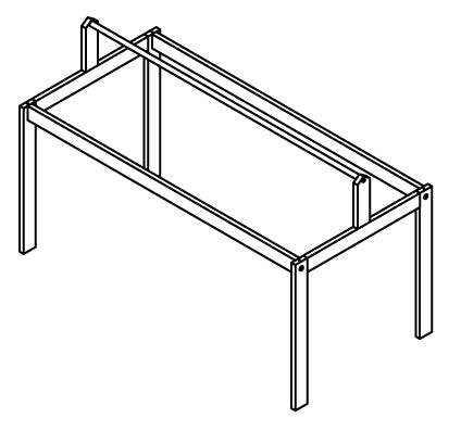 6371 - FRAME FOR FABRIC ROOF - CABIN BED