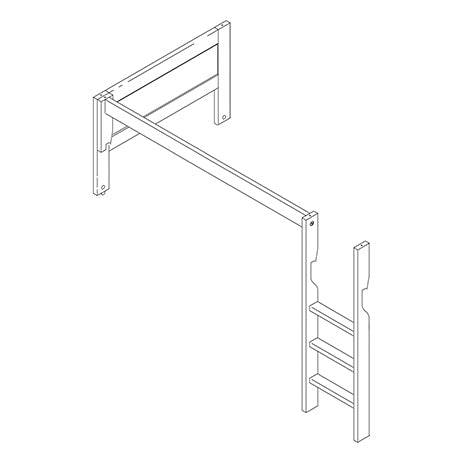 642 - LADDER & PARTS FOR CORNER BUNK BED 4642